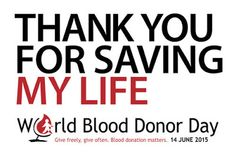 World Blood Donor Day 14 June, 2015