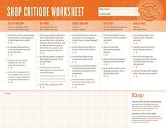 Shop Critique worksheet