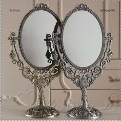 Makeup Vanity Mirror H 15'' Classical Style 360 Degree Rotate Cosmetic Mirror Make Up Mirror For Desktop Dresser Counter Large Portable Mirror 2192 Antique Mirrors From Walked, $112.35| Dhgate.Com