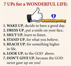 7 Ups For A Wonderful Life