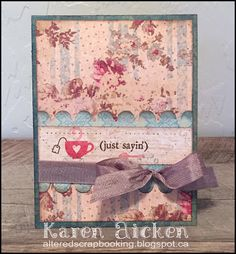 Altered Scrapbooking: Vintage Tea Cup Pop Stand Card