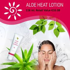 Aloe Heat Lotion Aloe Heat Lotion a perfect blend of warming agents and aloe vera. With every day stress, your skin becomes dull and with this product, you can get relief from that. Aloe Heat Lotion, Forever Living Products, Aloe Vera, Your Skin, Ireland, Stress, Day, Irish, Anxiety