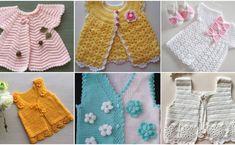 Çok Sipariş Alan Bebek Yelek Örgü Modelleri Baby Sweater Knitting Pattern, Baby Knitting Patterns, Vestidos Bebe Crochet, Pull Bebe, Baby Vest, Crochet Woman, Baby Sweaters, Madame, Board