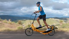The makers of the Elliptigo tout an elliptical exercise machine workout with wheels. Stand-up bike are words foreign to endurance cycling. Exercise Equipment For Sale, No Equipment Workout, Chest Workout Routine, Fitness Motivation Pictures, Go Outdoors, Workout Machines, Exercise Machine, Bike Frame, Outdoor Workouts
