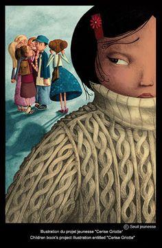 """Benjamin Lacombe - Children book's project illustration entitled """"Cerise Griotte"""""""