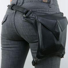 Fashion Gothic Steampunk Rock bag Men Women Waist Bag Shoulder Bag Phone Case Holder Bag 2015