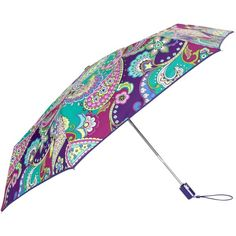 The colors on this Paisley umbrella rock, too! | Vera Bradley Umbrella