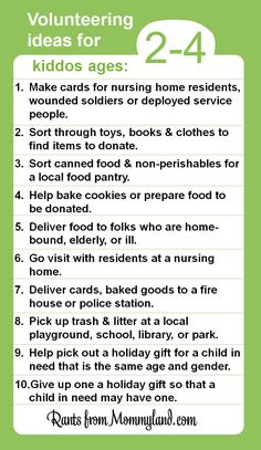Kids Can Volunteer - here are some ways