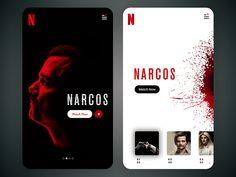 Netflix App Screen by Anupama Mishra - Design Web Mobile, Mobile Web Design, Mobile App Ui, Layout, Netflix App, Software, App Design Inspiration, Music App, Branding