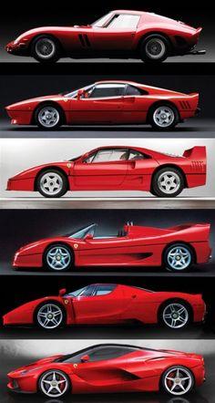 Ferrari Super cars : Dino, GTO, F40, F50, Enzo, Le Ferrari