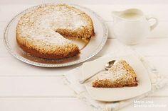 Receta de pastel con streusel de manzana. Fotografías del paso a paso de la elaboración de la receta. Sugerencia para la presentación. Receta de postres