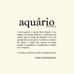 Poema Aquário