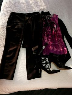 Antonio Melani ankle pants on sale, Elie Tahari tank from the outlet with an additional discount and WHBM open sweater also from their outlet store. Love discounts!