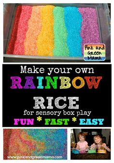 Rainbow Rice Is Twice As Nice! Make Your Own Colored Rice For A Sensory Box
