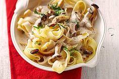 Kräuterseitlinge mit Pasta