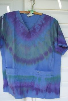 Tye Dyed Landau brand Scrub top  Size Large by HippiesSweetgrass