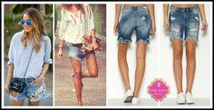 Merrick Frayed Jean Shorts