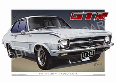 Holden Torana art prints from Unique Autoart. Beautifully illustrated LC GTR drawings created by Australian automotive artist Dion Mifsud. Australian Muscle Cars, Aussie Muscle Cars, Big Girl Toys, Girls Toys, Holden Muscle Cars, Gtr Car, Holden Torana, American Racing Wheels, Holden Australia
