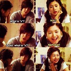 Kim Hyun Joong como Baek Seung Jo y Jung So Min como Oh Ha Ni. Korean Drama Funny, Korean Drama Quotes, Playful Kiss, Jung So Min, Live Action, Taiwan, Lets Fight Ghost, Baek Seung Jo, Best Kdrama