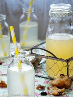 Les sirops home-made : citron Summer Drinks, Fun Drinks, Cinnamon Roll Casserole, Lemon Syrup, Lemon Curd, Oranges And Lemons, Vegan Ice Cream, Lemon Desserts, Light Recipes