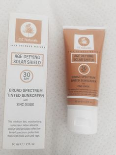 Oz Naturals Broad Spectrum Tinted Sunscreen (review at link)
