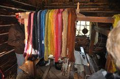 The Scottish made & dyed their own yarn. Highland Village Museum near Sydney, Canada.