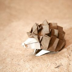 Cute Origami hedgehog