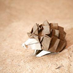 Cute Origami hedgehog