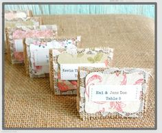 cute idea for place cards
