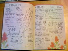 I love these sketchnotes from the bible. I should incorporate them into my notebook. :)