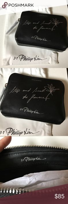 "NEW 3.1 Phillip Lim nano pouch NEW - 3.1 Phillip Lim 10th Anniversary Limited Edition 31 Nano Second Pouch. Black leather. Approx 6""W x 5""H x 1""D. Includes dust pouch. 3.1 Phillip Lim Accessories"