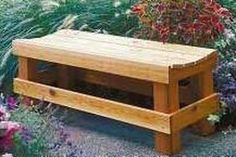 Build Wood Outdoor Benches