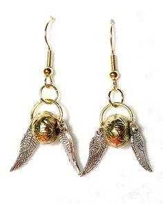 golden snitch #earrings #harrypotter