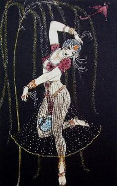 George Barbier, Indian Dancer (Restrike Etching)