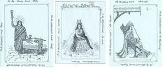 El Mago, La Suma Sacerdotisa y El Emperador, del Tarot de William Wescott