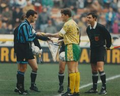 Inter Milan 1 Norwich City 0 (2-0 agg) in Dec 1993 at the San Siro. The captains meet before the UEFA Cup 3rd Round, 2nd Leg tie.