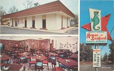 An old postcard we found on #ebay! Does anyone remember the House of Seafood on Hwy 90 & 30th Ave. in Gulfport, MS?