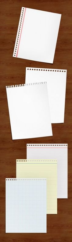 free psd paper notes