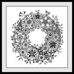 de zendoodle html art_galerie. Doodle Designs, Doodle Patterns, Zentangle Patterns, Flower Art Drawing, Wreath Drawing, Zen Doodle, Doodle Art, Christmas Tree Art, Doodles Zentangles