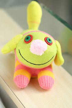 Handmade  sock dog stuffed animal    toys  soft dolls by hellykary, $11.50