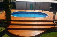 jolie piscine hors sol en bois