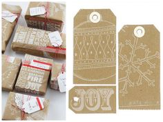 postcards and pretties: {trends} kraft paper - my OH has got me a white stamp pad and have white calligraphic ink so looking forward to trying this. I have a fab guy too.
