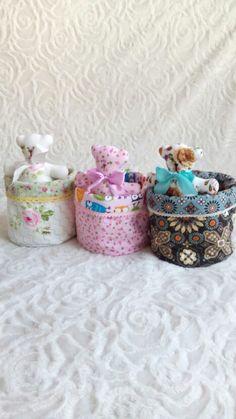 basket with teddy bear