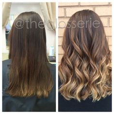 Image result for brown to balayage before and after