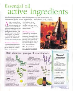 Essential oil active ingredients