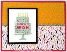 Party Wishes It's My Party Birthday- Dena Lenneman, Stampin' Up! Demonstrator