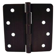 "GlideRite Hardware - 4014-ORB - 4-inch Oil Rubbed Bronze Door Hinges 1/4"" Radius Corners (Pack of 12), $15.95"