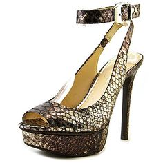 Jessica Simpson Women's Careen Platform Pump,Silver/Bronze,8 M US * You can get additional details at the image link.