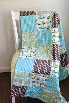 simple baby quilt tutorial