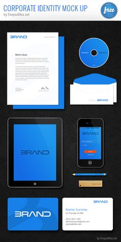 Corporate Identity PSD Mockup - Free Download